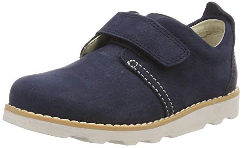 Clarks Crown Park T, Zapatillas para Niños, Azul (Navy Leather Navy Leather), 25.5 EU