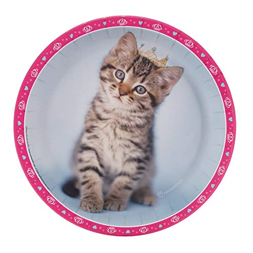 BirthdayExpress Rachael Hale Glamour Cats Party Supplies - Dinner Plates (8)
