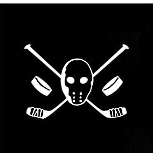Lege 4 stks Auto stickers13.7 * 9.7CM Interessant Masker Hockey Player Decor Vinyl Auto Stickers