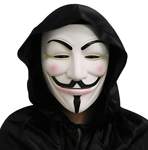 Gmasking White V for Vendetta Guy Fawkes Anonymous Mask Replica