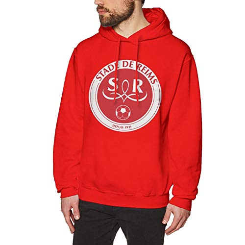 Sta-de de Re-ims FC Men's Hoodie Sweatshirt Pullover Hooded Sweater Long Sleeve Top