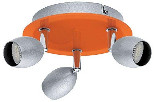 Spots lampe lumière enfants lampe acier argentin orange EGLO 30252 BURONI