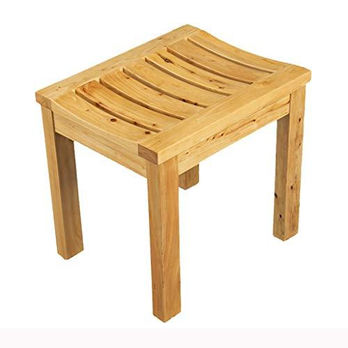 ZHFZD Douchestoel van hout, badkruk voor volwassenen, antislip badkruk voor senioren en kinderen (kleur 1) Size #2
