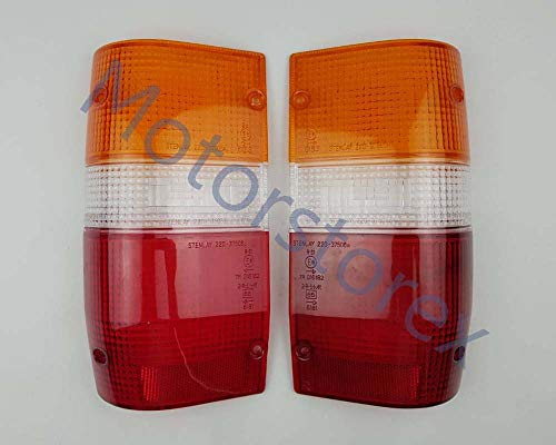 MotorStorex - Pair Rear Taillight Tail Lamps Lens For 87-96 Mitsubishi L200 Mighty Max Dodge D50 Pickup Truck
