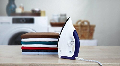 Amazon Brand - Solimo 1000-Watt Dry Iron (White and Blue)