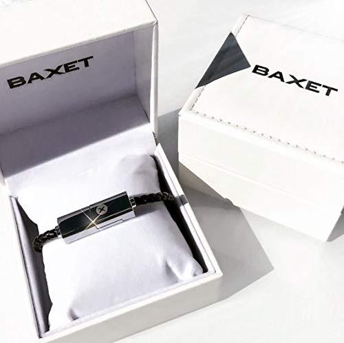 BAXET - Braccialetto di ricarica unisex compatibile iPhone Micro TypeC | cavo portatile in pelle intrecciata | bracciale USB trasmissione dati | Idea Regalo Tecnologico (NERO, 22cm TypeC)