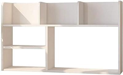 Love lamp Legno Desktop Storage Box Office Magazzinaggio Decorazione Domestica Student Libreria Scaffale Bianco 30.3 × 18.1 Pollici (Color : White, Dimensione : 30.3×18.1 in)
