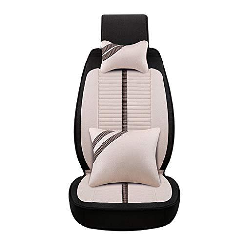 Auto Couverture de siège de Voiture Cartoon Couverture de siège de Voiture Four Seasons Universal Ladies Cushion Coussin entièrement enveloppé Accessoires (Color : Beige B)
