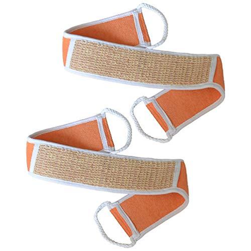 Healily Lot de 2 gants exfoliants pour le dos Orange