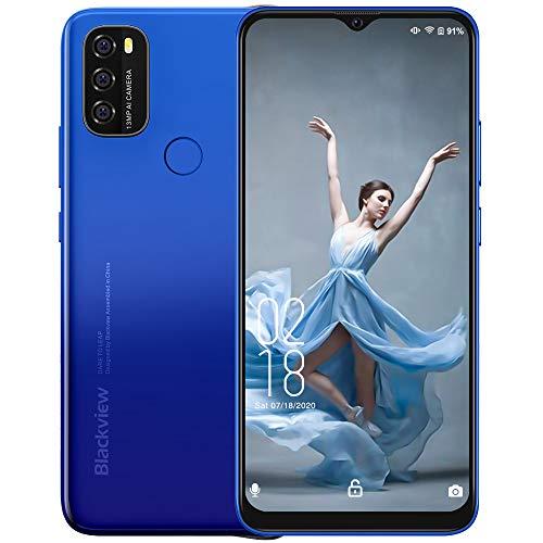 "2021 4G Handy Ohne Vertrag, Blackview A70 Smartphone Kostenlos Android 11 Telefon entsperrt, 5380mAh Akku 6,5\"" HD Bildschirm, Octa-Core 3GB + 32GB Einsteiger Handy, 13 MP Triple Camera Dual SIM Handy"
