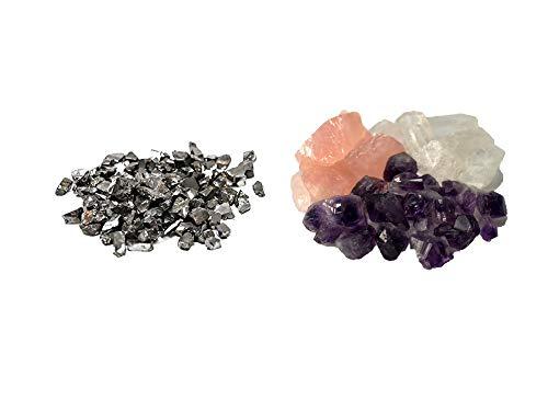 Edelschungit 10 g amethist bergkristal rozenkwarts waterstenen 200 g