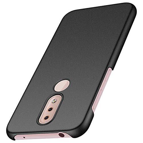 cookaR Mate Funda Nokia 4.2 (2019), [Ultra-Delgado] Anti-Rasguño y Anti-Huella Protectora Caso Plástico Duro Cover Carcasa para Nokia 4.2 (2019) Smartphone, Grava Negro