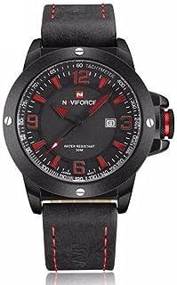 Naviforce 9077 B-R-B Analog For Men, Casual Watch