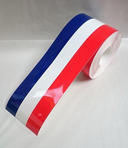 Schommel - Vinyl Sticker voor Auto Lichaam Spiegel Deur Bumper Decal 15 cm Breedte 600 cm Lengte 600cm French Flag