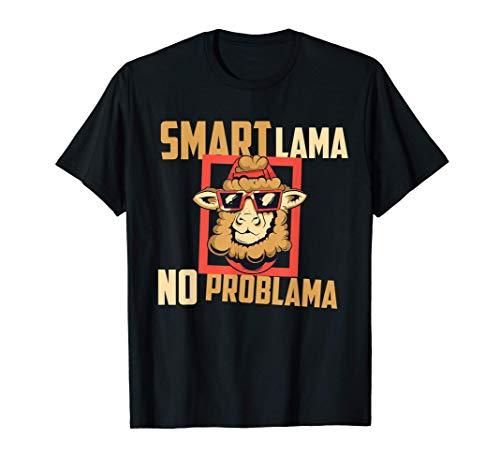 Smart Llama Cool Llama Alpaca con gafas de sol Vacation Camiseta
