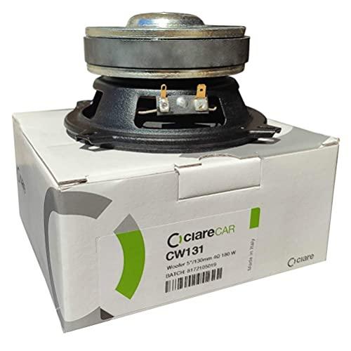 1 CIARE CW131 woofer altoparlante da 5' 13,00 cm 130 mm diametro 70 watt rms 180 watt max impedenza 4 ohm spl porte portiere e sportelli auto, 1 pezzo