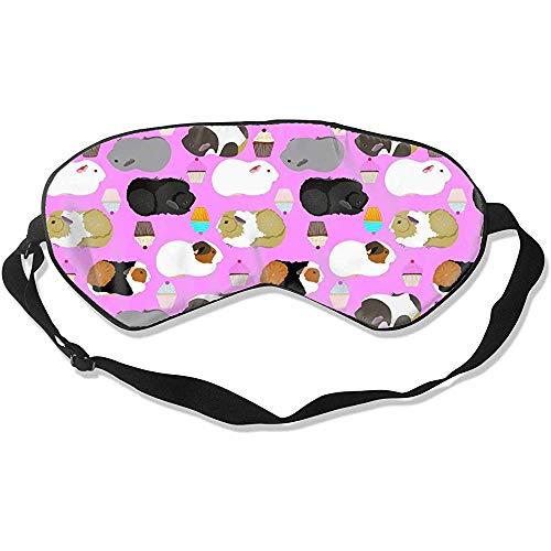 Slaap Oog Masker, Guinea Varkens en Cupcakes Super Glad Slaap Oog Maskers voor Thuis Yoga Meditatie