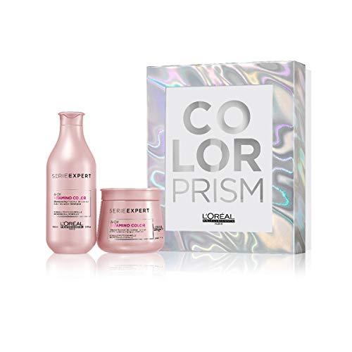 L'Oréal Professionnel - Coffret Beauté série limitée Vitamino Color Prism - 1 shampooing fixateur et perfecteur de couleur 300ml & 1 masque fixateur de couleur 250ml