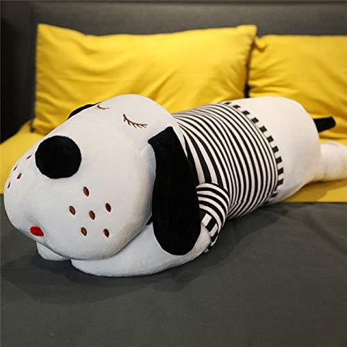 Muñeco de Peluche de Cachorro a Rayas, Almohada para Dormir, muñeca Grande, Pareja, Lindo Regalo de cumpleaños Creativo, Regalo de cumpleaños de Felpa Kawaii, 50 cm, Negro