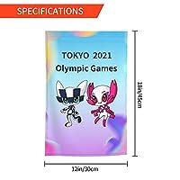 Xmbeirui 2021オリンピック旗 大日本帝国旗 Flag スポーツ用品 ポリエステル繊維素材 防水生地 装飾旗 旗 ガーデンフラッグ(30x45)オリンピック競技 Olympic Games2021fhj104