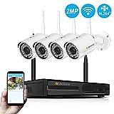 Kit Vidéo Surveillance WiFi sans Fil, Jennov HD Système Caméra Surveillance de Sécurité, 4CH WiFi NVR avec 4pcs...