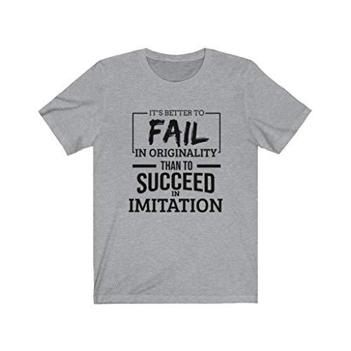 Es mejor fallar en la originalidad que tener éxito en la camiseta de imitación - - 3X-Large