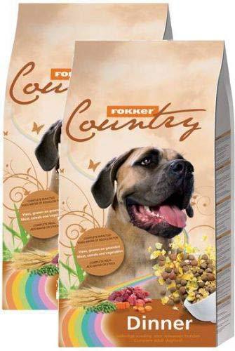 2x 15 KG Fokker country dinner hondenvoer