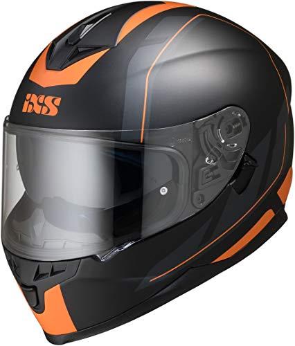 IXS 1100 2.0 Helm Schwarz Matt/Orange M (57/58)