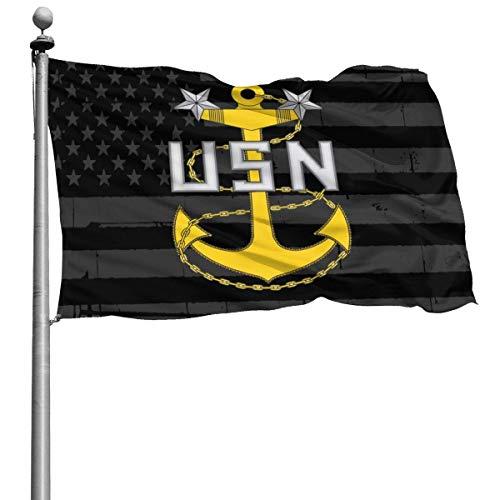 384 Bandera del Jardin Navy Rank E-9 Master Chief Petty Officer Insignia Banner para Patio Patio Estándar Exterior Todas Las Temporadas Decoración para El Hogar Impresión De Celebraci