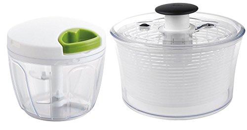 【セット買い】ぶんぶんチョッパーDX キッチンツールセット K&A ぶんぶんチョッパー大サイズ + OXO サラダスピナー野菜水切り器
