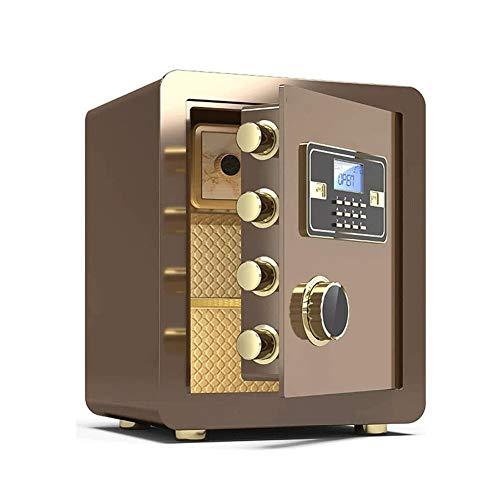 Z-Color Password Safe Box Cajas Fuertes, de Gran Capacidad electrónica de contraseña a Prueba de Fuego Inicio Caja de Seguridad Cajas de aleación de Acero Incluye Teclas 45cm (Color : Coffee Gold)