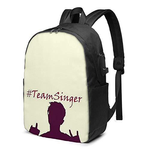 Rononand backpack Zaino Con porta di ricarica USB Zaino per laptop impermeabile casual elegante Borsa da viaggio ultraleggera Mike Singer Trendy