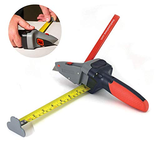 Drywall Axe All-in-one Hand Tool with Measuring Tape and Utility Knife