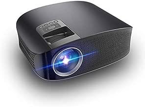 LULUKEKE Proyector, proyector de Cine en casa YG610, 3600 lúmenes 1080p HD Projector, Pantalla de sincronización por Cable, se Puede conectar Directamente al teléfono.
