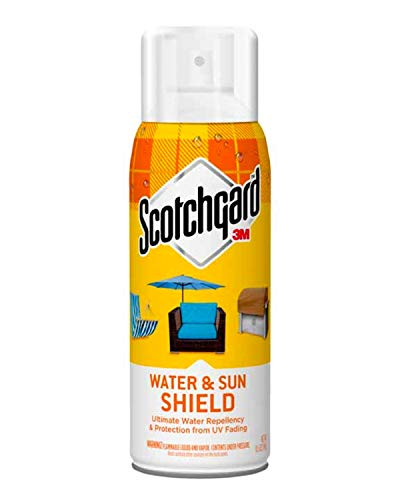 Scotchgard Water and Sun Shield, Repels Water, Helps Protect From Harmful UV Rays, Ideal For Patio Furniture, Grill Covers, Outdoor Fabrics, Leather And Suede, 10.5 Ounces