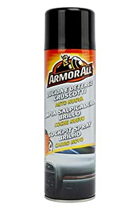 Armor All 83500SPI Limpia Salpicaderos Aroma New Car 500 ML Eficaz para plástico, Vinilo y Goma, Gris