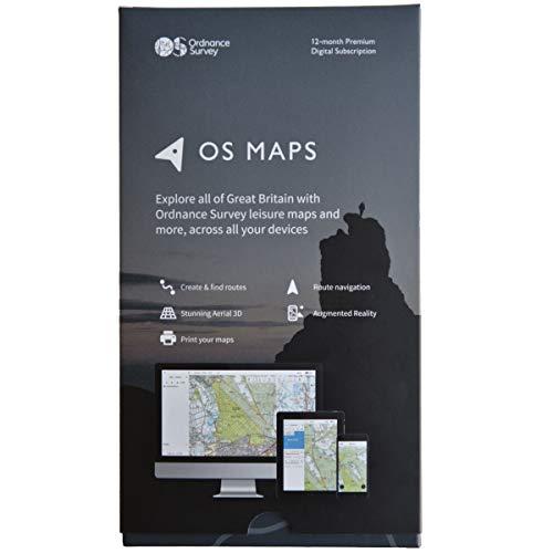 OS Maps 12-Month Premium Digital Subscription Box