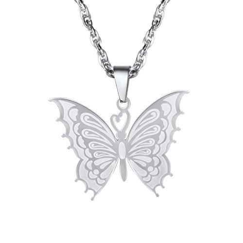PROSTEEL Regalo para Mujer Collar de Mariposa Colgante de Acero Inoxidable Collar para Mujer Envases...