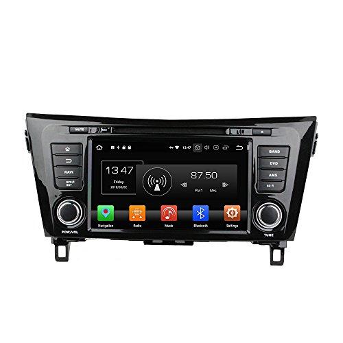 Android 9.0 Octa Core Autoradio Voiture GPS Lecteur Multimédia DVD Radio stéréo pour Nissan Qashqai X-Trail 2014 soutient Commande au Volant avec WiFi Bluetooth sans Carte SD