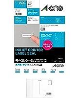 エーワン ラベルシール インクジェット 光沢紙 150面 10シート 63150 + 画材屋ドットコム ポストカードA