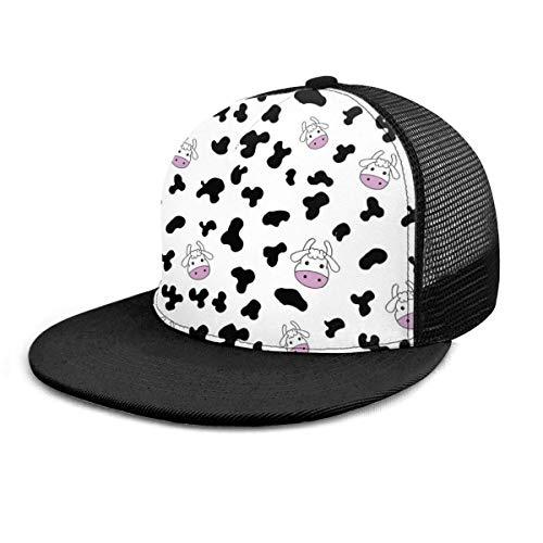 Gorra de béisbol Patrón de vaca Ganadería de dibujos animados Ganadería Gorras de béisbol Unisex Snapback Flat Bill Hip Hop Sombreros/Sombrero