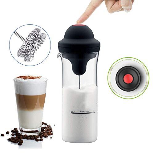 CLII Whisk Milkshake Maker Milchaufschäumer Hand Elektro Latte Maschine, Edelstahl Cappuccino aufschäumen Pitcher, leicht zu reinigen