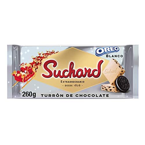 Suchard Turrón De Chocolate Blanco Y Galletas Oreo Navideño - Tableta De G, 260 G