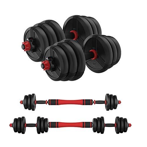 LAOHETLH Ajustable con Mancuernas con Barra Libre Determinado Peso 2 en 1 De Los Hombres de Peso Multifuncional Mano con Mancuernas 10/20/30 / 40KG Fitness Equipment Set (Size : 40KG/88lbs)