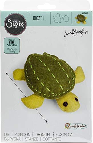 Sizzix, Schildkröte von Jennifer Jangles, mehrfarbig, Einheitsgröße, Bigz L, mehrfarbig