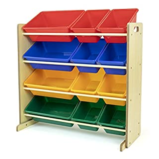 Humble Crew, Natural/Primary Kids' Toy Storage Organizer with 12 Plastic Bins (B000067PTO) | Amazon price tracker / tracking, Amazon price history charts, Amazon price watches, Amazon price drop alerts