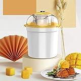 ZJZ Heladera eléctrica, Mini máquina de Helados automática para niños pequeños del hogar, Heladera