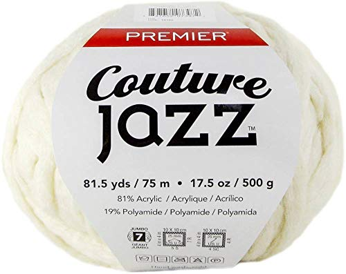 PREMIER YARNS 1080-01 Yarn Couture Jazz Milk