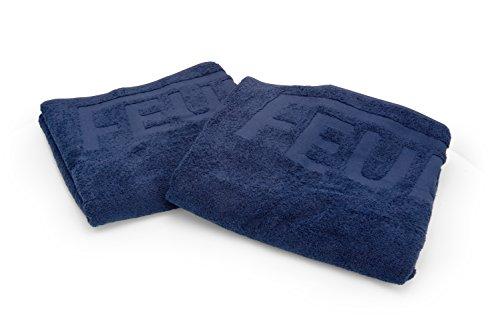 PACO Deutschland e.K. Premium Duschtuch mit Feuerwehr Einwebung Marineblau 140x67cm 100% Baumwolle Markenqualität