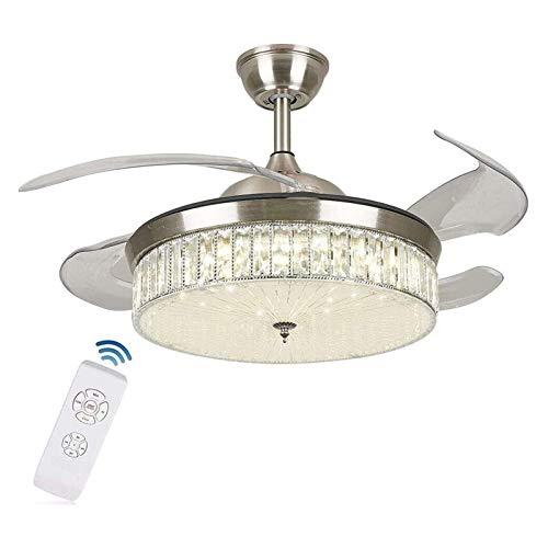 Luz de techo LED genérica, ventilador de techo de control remoto de 42 pulgadas con iluminación de lámpara de lámpara Ventilador de techo LED ventilador de techo